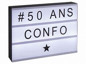 Panneau Lumineux Lettre : panneau lumineux personnalisable lightbox chez conforama ~ Teatrodelosmanantiales.com Idées de Décoration