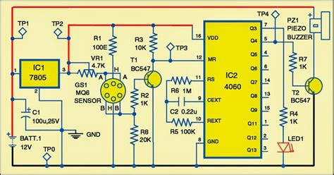 Simple Sensitive Lpg Leakage Alarm Circuit Diagram