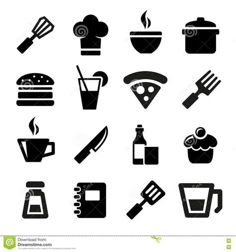icone cuisine icônes de cuisine images libres de droits image 34565109