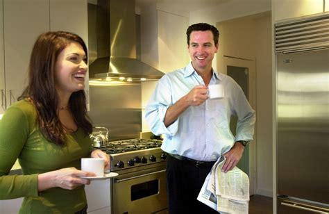 guilfoyle kimberly then ex newsom gavin wife lady sf caption kitchen