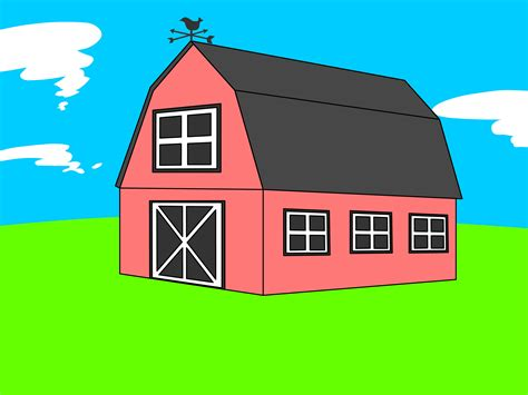 How To Draw A Barn by Free Barn Free Clip Free Clip