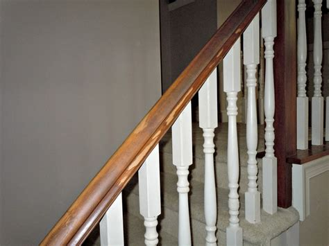Banister Railings by Updating A Painted Banister With Gel Stain