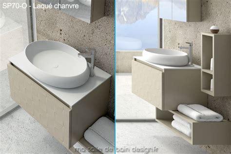 Meuble Vasque 70 Cm De Large by Meuble Suspendu Avec Vasque Ovale Design En Solid Surface