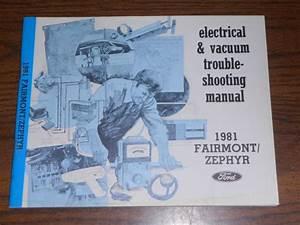 Sell 1981 Ford Fairmont    Mercury Zephyr    Wiring  U0026 Vacuum