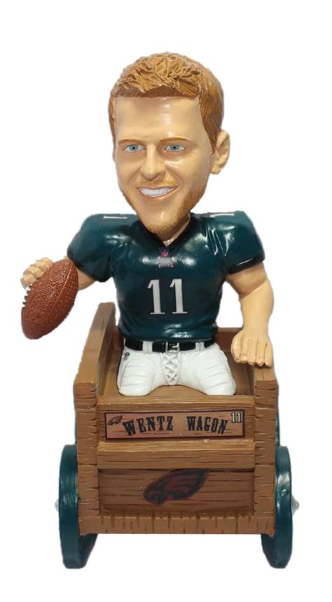 Upper Deck Customer Service by Carson Wentz Philadelphia Eagles Wentz Wagon Bobble Head