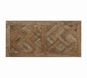 Parquet reclaimed wood rectangular coffee table pottery barn for Parquet reclaimed wood rectangular coffee table