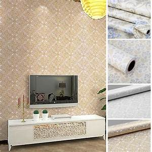 Flowers european modern self adhesive wallpaper
