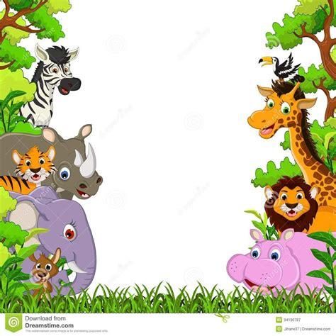cartoon jungle animals wallpaper