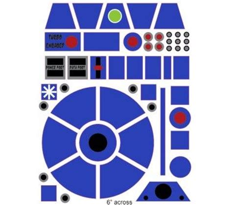 R2d2 Printable Template by Template For R2d2 Helmet Yahoo Search Results