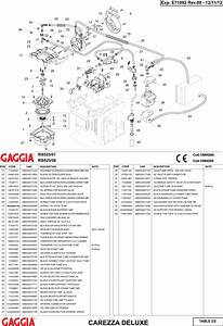 Gaggia Carezza Deluxe Parts Diagram Rev00 User Manual