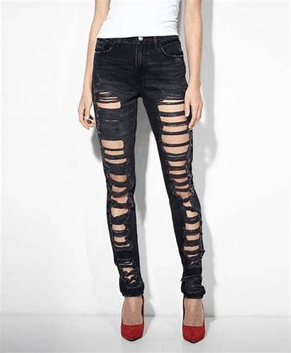 Jeans Levi Ripped Skinny Clothing Wantering Womens