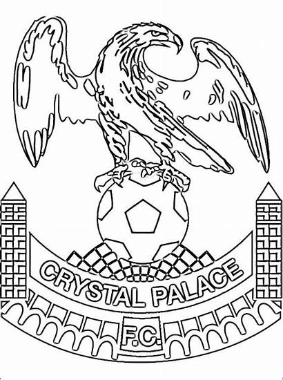 Palace Crystal Coloring Football Dibujos Colorear Buckingham