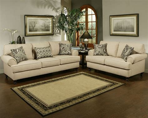 contemporary living room set southerland  toast finish
