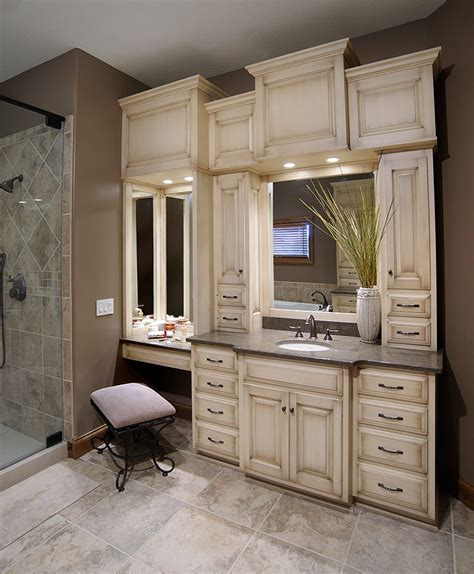 built in bathroom cabinets bathroom vanity with built in cabinets around mirrors