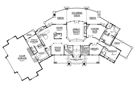 boothbay bluff luxury home plan   house plans