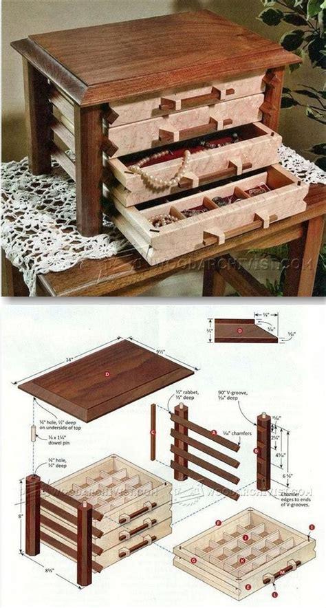 jewelry box plans ideas  pinterest wooden box plans woodworking plan jewellery box