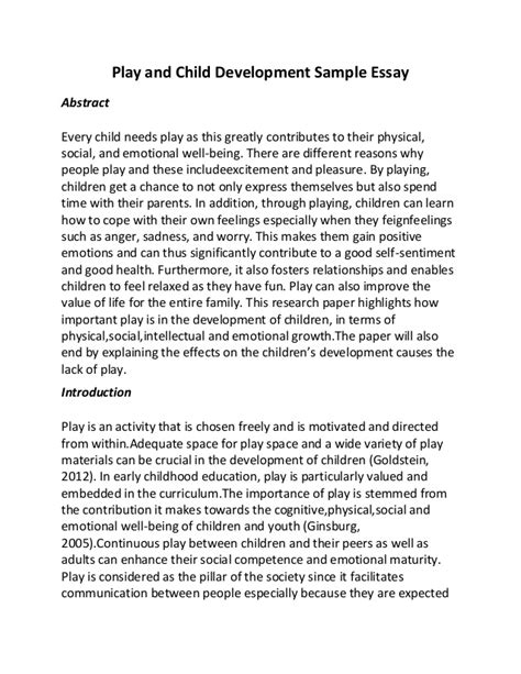 Child Development In Preschool Essay interpretation of observation of the physical development