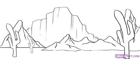 step    draw  desert scene
