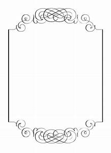 Free vintage clip art images calligraphic frames and borders for Invitation border template