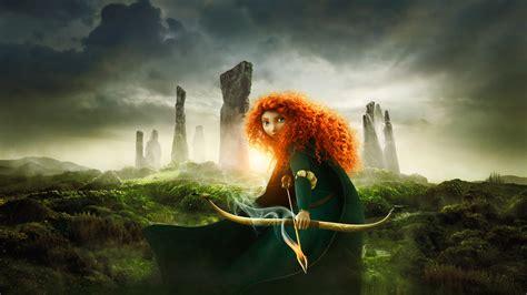 full hd wallpaper brave cartoon redhead princess merida