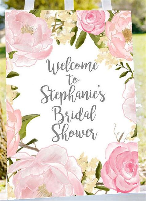 bridal shower welcome sign welcome to bridal by