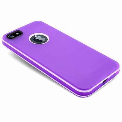 Iphone Coque Violette Stripes 5s Clubcase Tpu