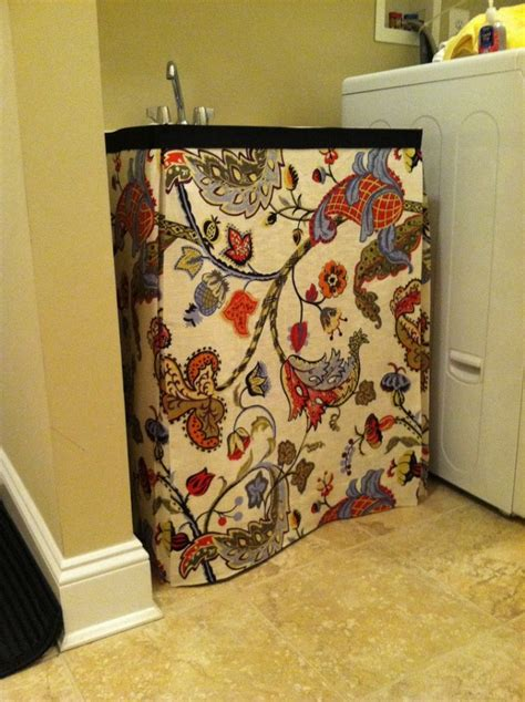 no sew utility sink skirt top 10 easy diy sink skirts