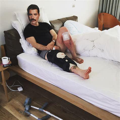 freddie mercury bed on wheels knee reconstruction part 1 two weeks