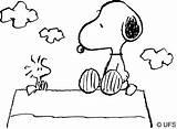 Snoopy Coloring sketch template