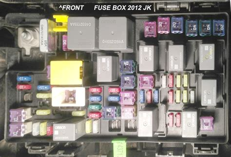 Jeep Jk Fuse Box by 2012 Jeep Wrangler Fuse Box Fuse Box And Wiring Diagram