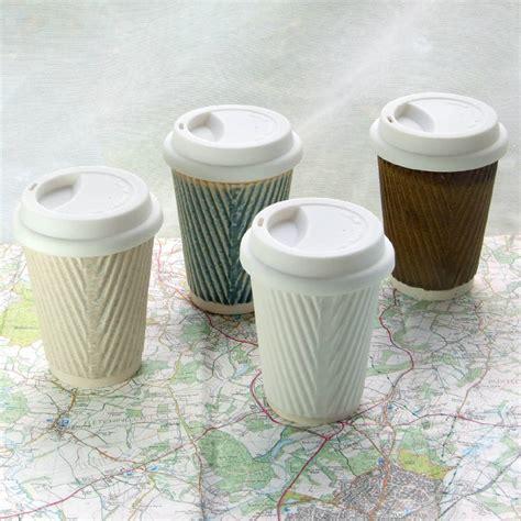 coffee cup, ceramic travel mug with lid by helen rebecca ceramics   notonthehighstreet.com