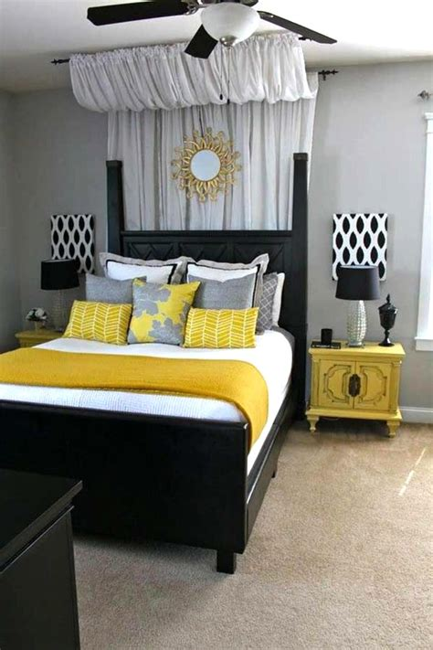 black and yellow bedroom decor black and white bedroom decorating ideas with yellow touch theme home inspiring