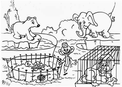 coloring pages  zoo animals coloring home