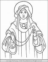 Rosary Coloring Lady Pages Catholic Mary Guadalupe Feast Drawing Church Mysteries Pray Thecatholickid Holy Praying Children Prayer Mother Lourdes Kid sketch template