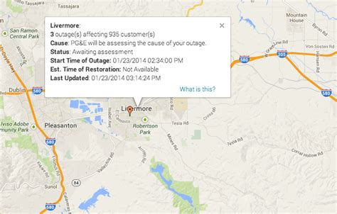 power outages impacting  customers  livermore