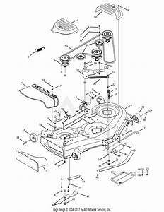 Mtd 13aa625p004  2009  Parts Diagram For Mowing Deck 50 Inch
