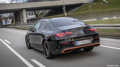 Start up, test drive, walkaround and review. 2020 Mercedes-Benz CLA 250 4MATIC Coupe Edition 1 (Color: Cosmos Black) - Rear Three-Quarter ...