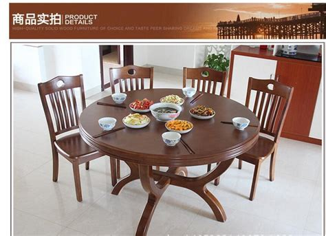 household solid wood dining tables  chairs combination  modern minimalist circular dining