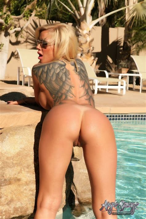 Hot Angie Savage Gets Naked And Wet In The Pool
