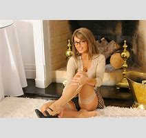 Photo Gemma Massey Sexy Dark Blonde Girls Fireplace