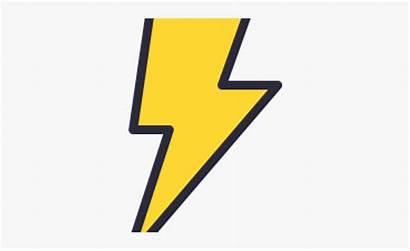 Lightning Bolt Clipart Flash Cartoon Transparent Netclipart