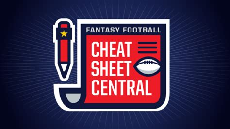 fantasy football cheat sheets abc news