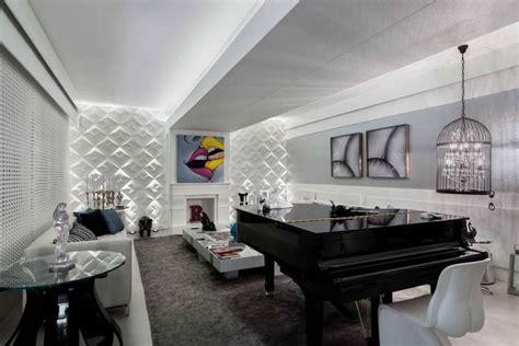 sala sofa preto e painel 75 ideias de salas decoradas fotos de decora 231 227 o de salas
