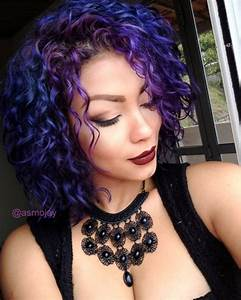 Short curly colored hair Pinteres
