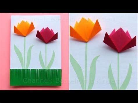 basteln mit papier blumen muttertag basteln muttertagskarten basteln mit papier blumen als mutt be