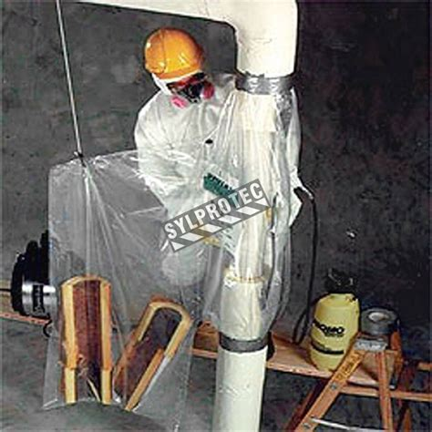disposable glove bags  vertical pipes    inches