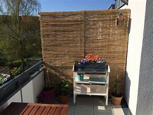 Balkon Sichtschutz Aus Bambus Selber Bauen Anleitung Mit