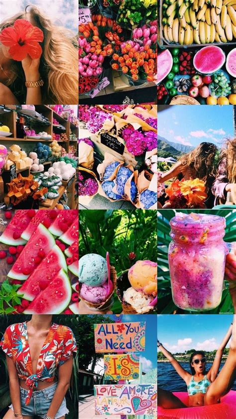 Wallpaper Collage by Summer Aesthetic Collage Summer Wallpaper Aesthetic