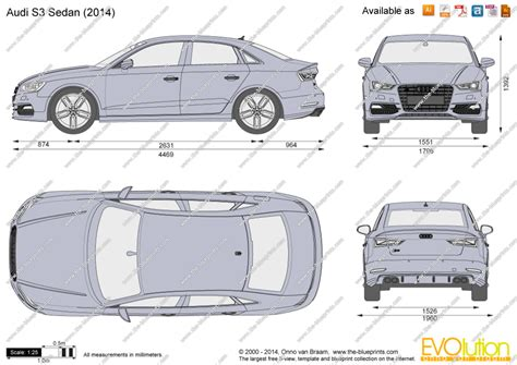 audi  sedan vector drawing