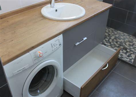 agencement salle de bain avec machine laver